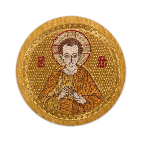 """Икона вышитая """"Младенец Иесус"""", Золото, 6,5 см"""