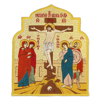 """Embroidered icon """"Crucifixion"""""""