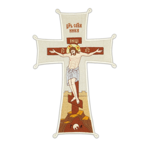 """Embroidered icon """"Calvary"""""""