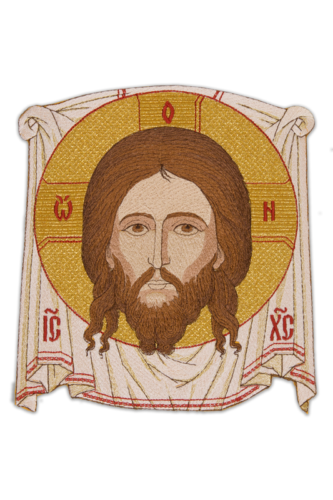 "Icon embroidered ""Savior on the Ubrus"""