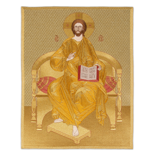 """Icon embroidered """"Savior on the Throne"""""""