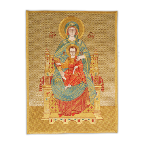 """Icon embroidered """"Mother of God the Tsaritsa"""""""