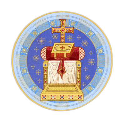 """Embroidered icon """"Throne"""""""