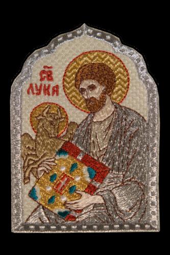 Icon Evangelist Luke silver