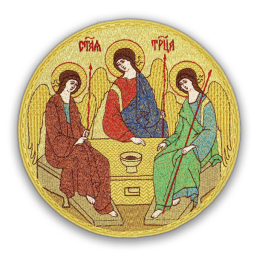 """Icon embroidered """"Trinity"""""""
