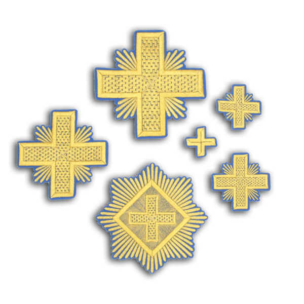 """Embroidered cross """"Chess"""""""