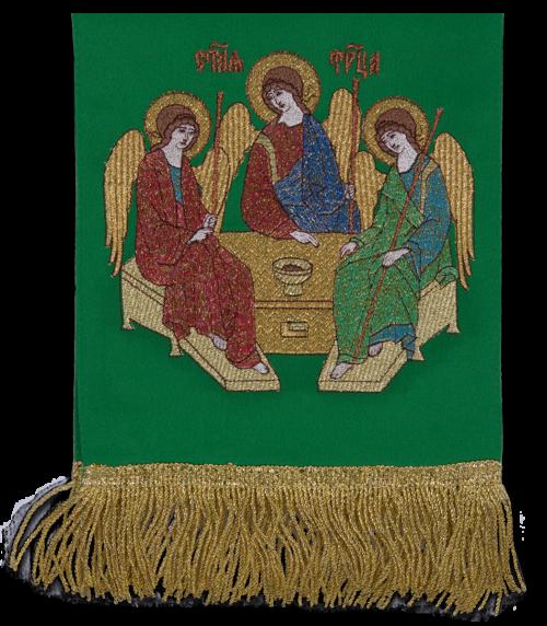"""Закладка вышитая с иконой """"Троица"""""""