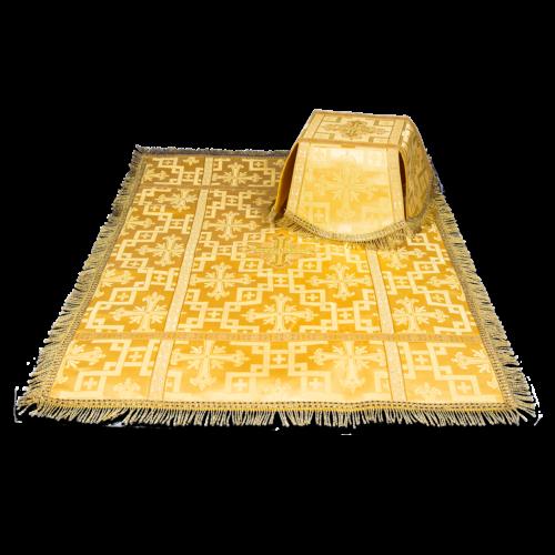Покровцы и воздух Савва желтые, шелк греческий