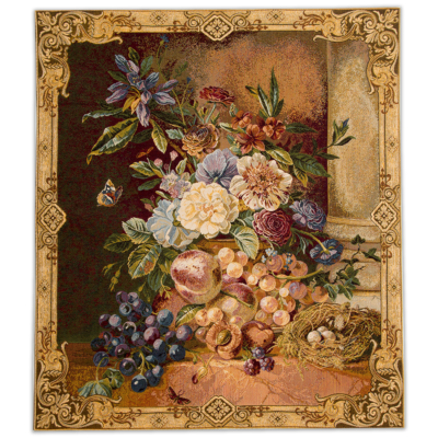 Гобелен Цветы, на подкладке