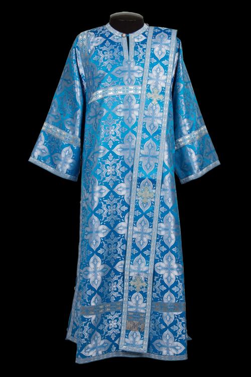 Deacon's vestment blue, Russian brocade