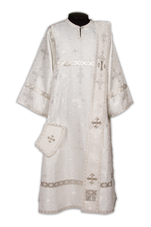 Deacon's vestments white, silk Russian
