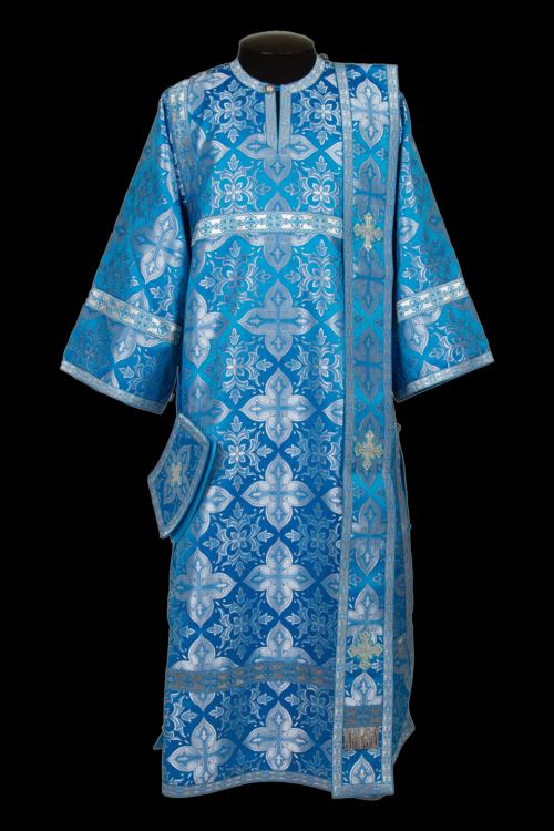 Deacon's vestment blue, silk Russian