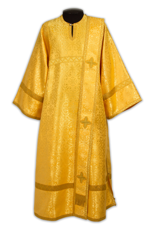 Deacon's vestments yellow, Russian silk