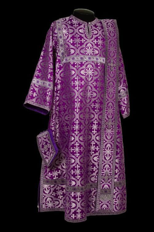 Deacon's vestments purple, Russian silk