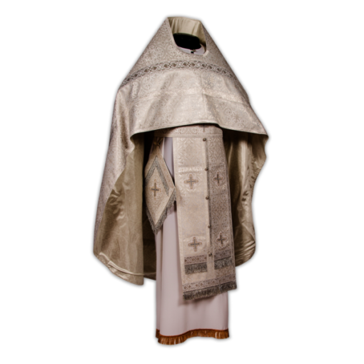 Priestly vestments beige, Russian brocade