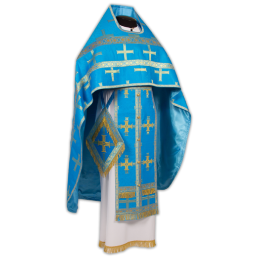 Priest's vestments blue, Russian brocade