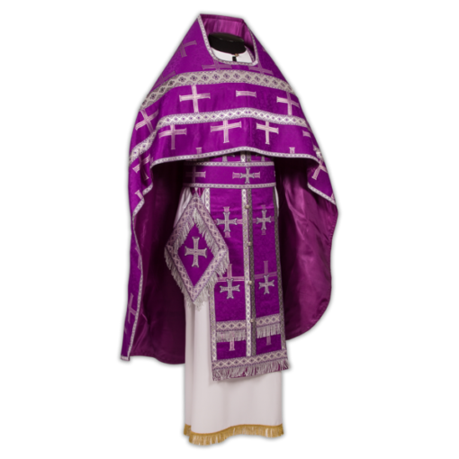 Priest's vestments purple, Russian brocade