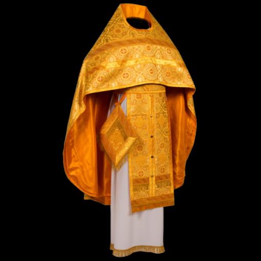 Иерейское облачение желтое, шёлк русский