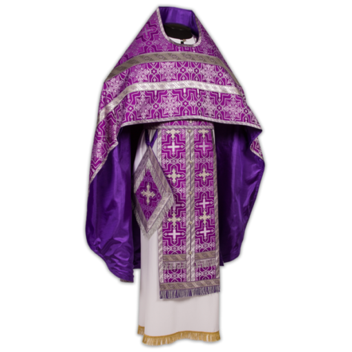 Priest's vestments violet, silk Russian