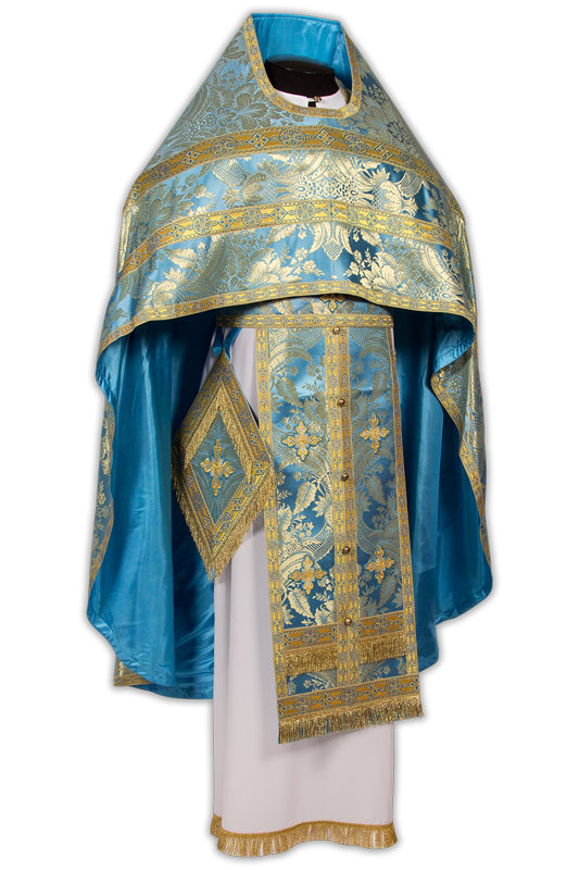 Priestly vestments made of Italian brocade