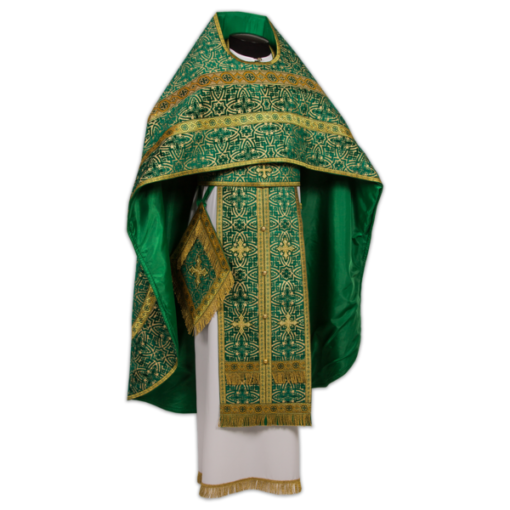Priestly vestments green, buried velvet