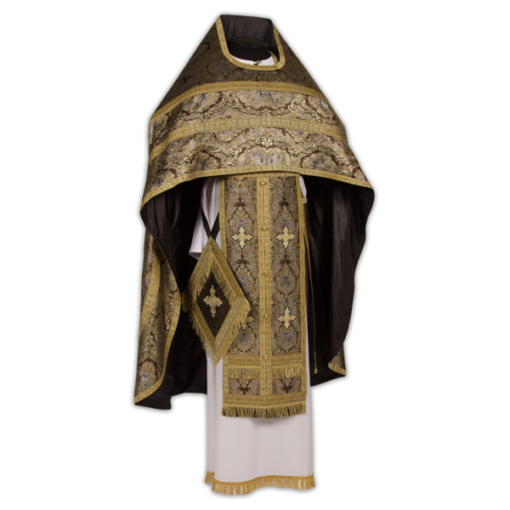 Priestly vestments brocade French