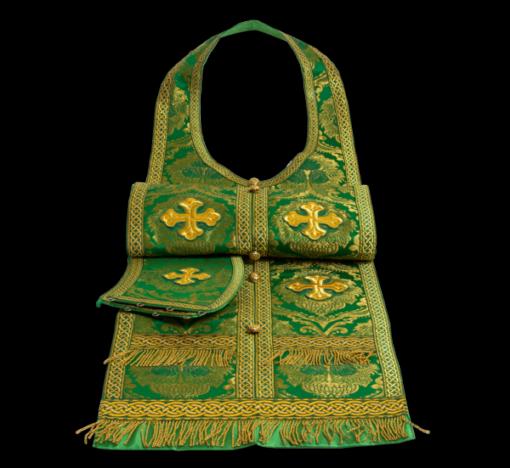 Required vestment green, Russian brocade