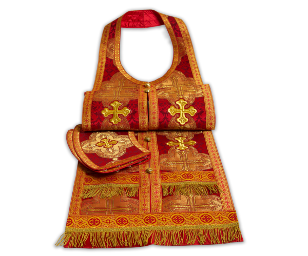Required vestment red, Russian brocade