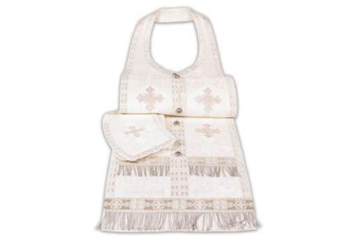 Required vestments white, silk