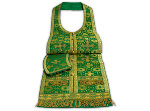 Required vestments green, Russian silk