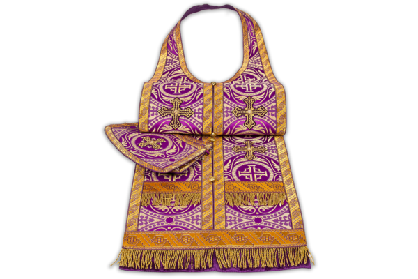 Required vestments purple with gold, silk