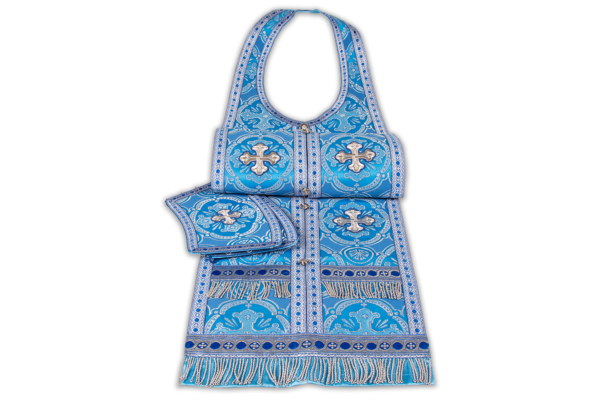 Required vestments blue, silk