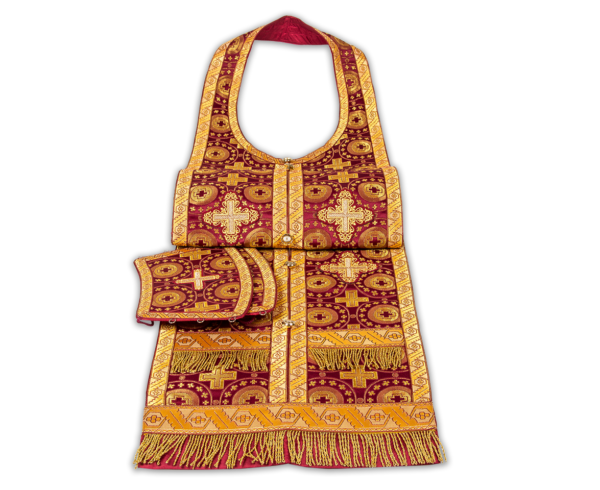 Required vestments red with gold, silk