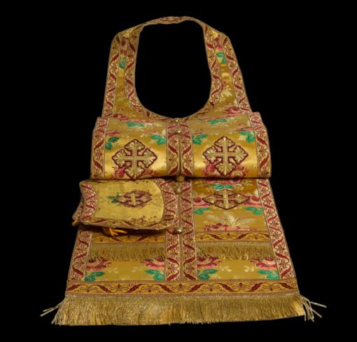 Required vestments gold, Italian brocade