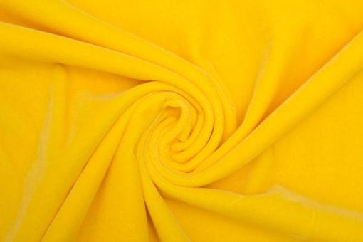 Velvet bright yellow