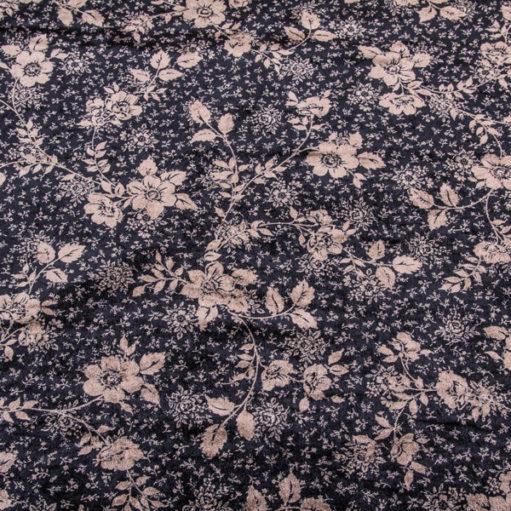 Black velvet with golden flowers