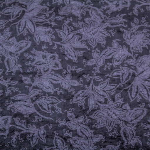 Black velvet with flowers
