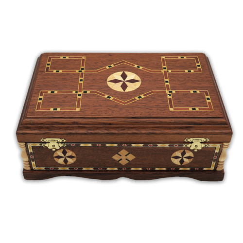 Wooden casket for relics with inlaid (3 reliquaries) Greece