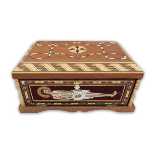 Casket for the Holy Gifts wooden with inlay Greece