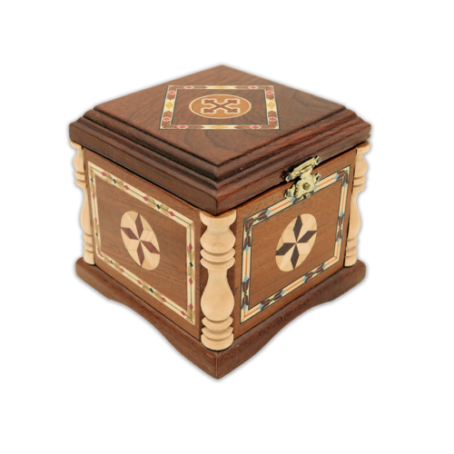 Wooden casket for relics (1 reliquary) with inlaid Greece