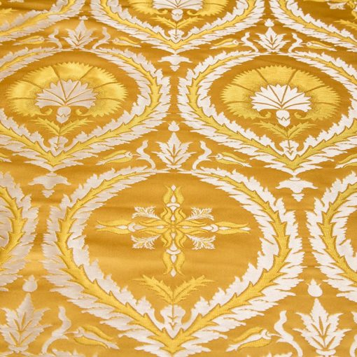 "Brocade ""Carnation"" yellow / silver"