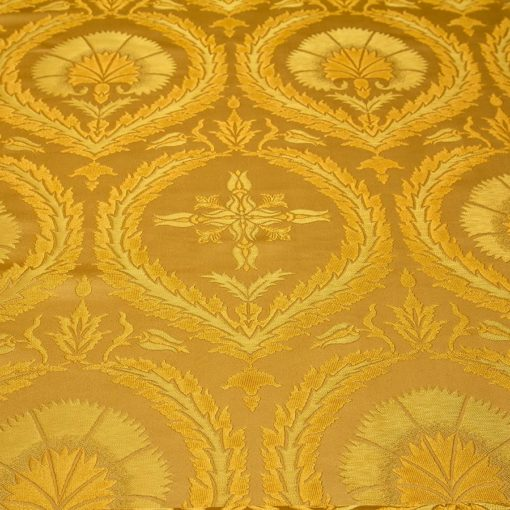 "Brocade ""Carnation"" yellow / gold large drawing"