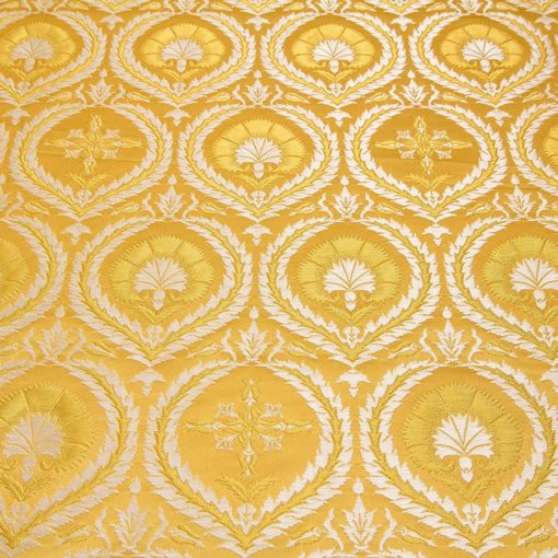 "Brocade ""Carnation"" yellow / silver small drawing"