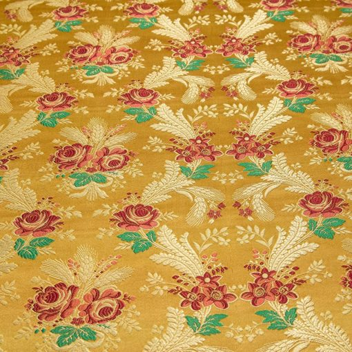 "Brocade ""Ears with roses"" yellow"