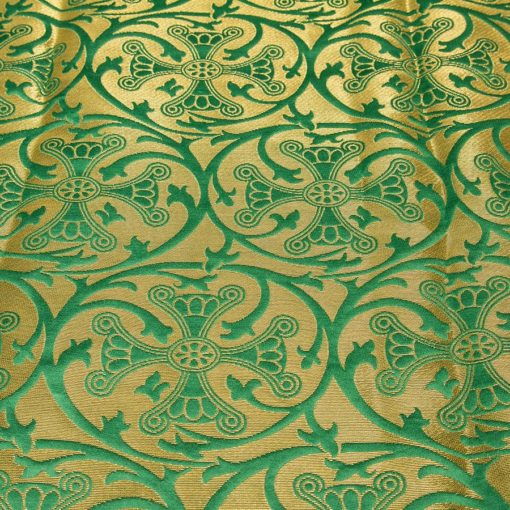 "Brocade ""Crown of Thorns"" green / gold"
