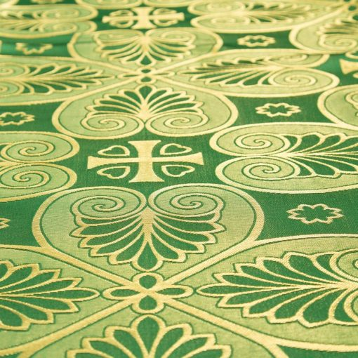 "Brocade ""Bethlehem"" green / gold"