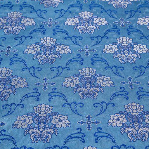 "Brocade ""Cruciferous"" blue / silver"