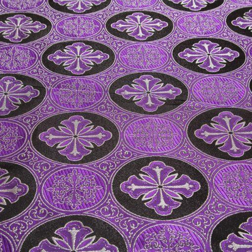"""Brocade """"Byzantium"""" black / purple / silver"""