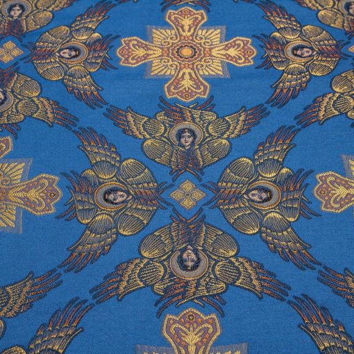 "Brocade ""Cherubim"" blue / gold"