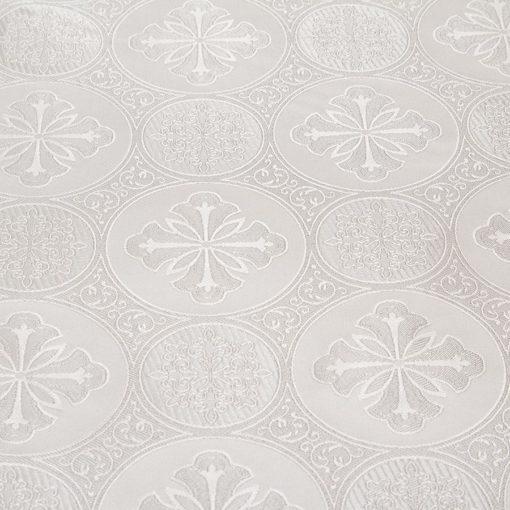 "Brocade ""Byzantium"" white / silver"
